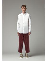 Comme des Garçons Men's Button Up Shirt - White