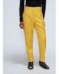 CALVIN KLEIN 205W39NYC High Waisted Trouser - Yellow