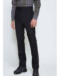 Lanvin Side Pleat Jacquard Ribbon Trouser - Black