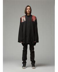 Raf Simons Oversized Shoulder Patch Jumper - Black