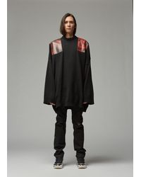 Raf Simons Oversized Shoulder Patch Sweater - Black