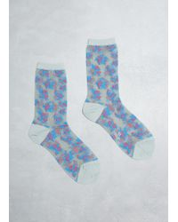 Y's Yohji Yamamoto - Tegusu Flower Socks - Lyst
