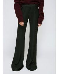 Ms Min   Dark Green Flared Trouser   Lyst