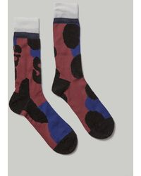 Sacai Leopard Sock - Multicolour