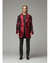Comme des Garçons Jacquard Coat - Red