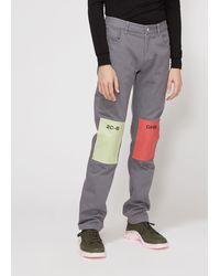 Raf Simons - Regular Fit Patch Jeans - Lyst