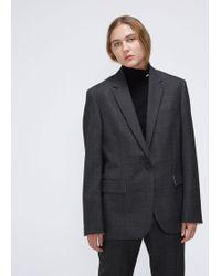 CALVIN KLEIN 205W39NYC Wool Check Blazer - Gray
