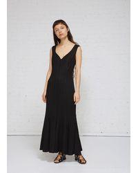AALTO Panel Seam Sleeveless Dress - Black