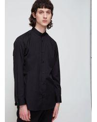 Issey Miyake - Band Collar Broad Cloth Shirt - Lyst