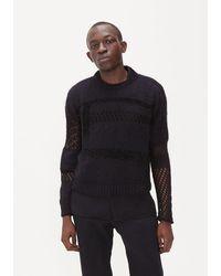 Saint Laurent Mixed Knit Jumper - Black