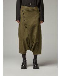 Y's Yohji Yamamoto 5 Button Sarouel Pant - Green
