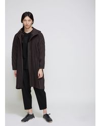 Homme Plissé Issey Miyake Edge Coat - Gray