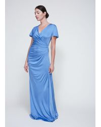 Lanvin - Long Ruched Dress - Lyst