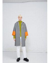 Marni - Truffle / Carrot Colorblock Rubberized Cotton Raincoat - Lyst