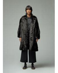Comme des Garçons Faux Fur Overcoat - Black