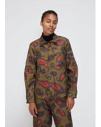 Toga Paisley Print Patch Pocket Cotton Shirt - Multicolour