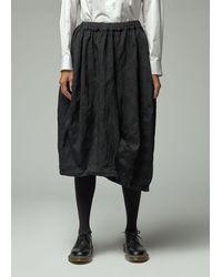 Comme des Garçons Polyester Jacquard Flower Pattern Garment Treated Skirt - Black