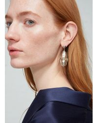 Lemaire - Single Twisted Pearl Earring - Lyst