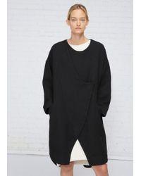 Black Crane - Black Dual Canvas Coat - Lyst