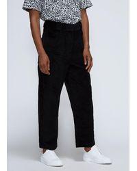 Cedric Charlier Cord Crop Trouser Pants - Black