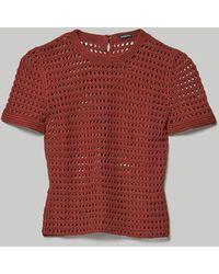 Rachel Comey Result Crochet Tee Rust - Brown