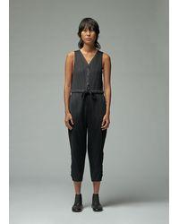 Pleats Please Issey Miyake Sleeveless Thicker Bounce Jumpsuit - Black