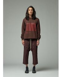 Rick Owens Drkshdw Affliction Print Felpa Crew - Brown