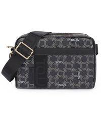 Tous - Medium Black Logogram Crossbody Bag - Lyst