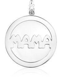 Tous Large Silver Mama Pendant - Metallic
