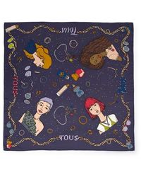 Tous Navy Tribe Scarf - Blue