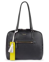 Tous Black Leather Bridgy City Bag