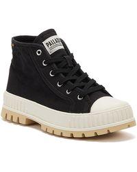 Palladium Pallashock Mid Og Womens Black / White Boots