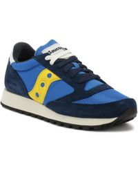 Saucony - Mens Blue / Yellow Jazz Original Vintage Trainers - Lyst