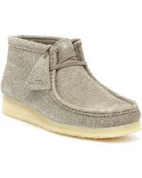 Clarks Originals Womens Grey Interest Wallabee Boots - Gray