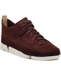 Clarks Mens Burgundy Trigenic Flex Trainers - Multicolour