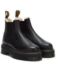 Dr. Martens Dr. Martens 2976 Quad Pisa Fur Lined Boots - Black