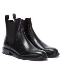 Vagabond Amina Leather Womens Black Boots
