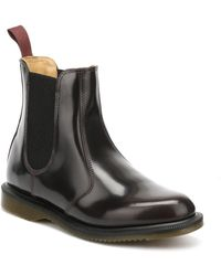 Dr. Martens - Dr. Martens Flora Arcadia Womens Burgundy Leather Boots - Lyst