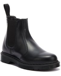 Dr. Martens Dr. Martens 2976 Smooth Leather Mono Boots - Black
