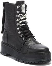 Bronx Rifka Womens Black Platform Boots
