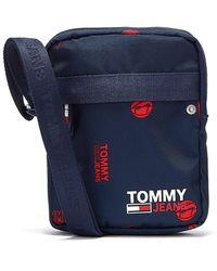 Tommy Hilfiger Tommy Jeans Campus Reporter Print Marineblaue Umhängetasche Für