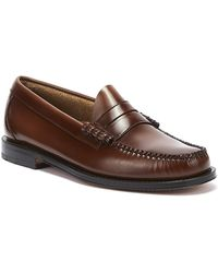 G.H.BASS G.h. Bass & Co. Weejuns Heritage Larson Mens Mid Brown Penny Loafers