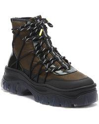 Bronx Reflective Jaxstar Womens Black / Khaki Platform Hiker Boots