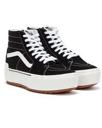 Vans Sk8-Hi Stacked Baskets Noir / Blanc Pour