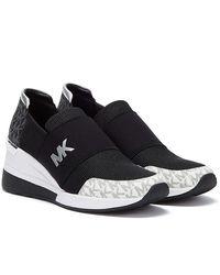 Michael Kors Felix Mesh / White Sneakers - Black