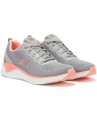 Skechers Solar Fuse Cosmic View Grau / Pink Sneaker