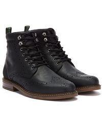 Barbour Seaton Mens Black Boots