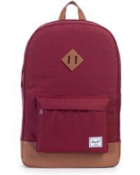 Herschel Supply Co. - Burgundy/tan Heritage Backpack - Lyst