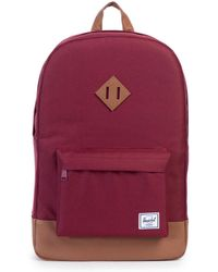 Herschel Supply Co. - Burgundy/tan Heritage Backpack - Lyst
