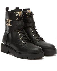 Guess Odanna / Gold Boots - Black